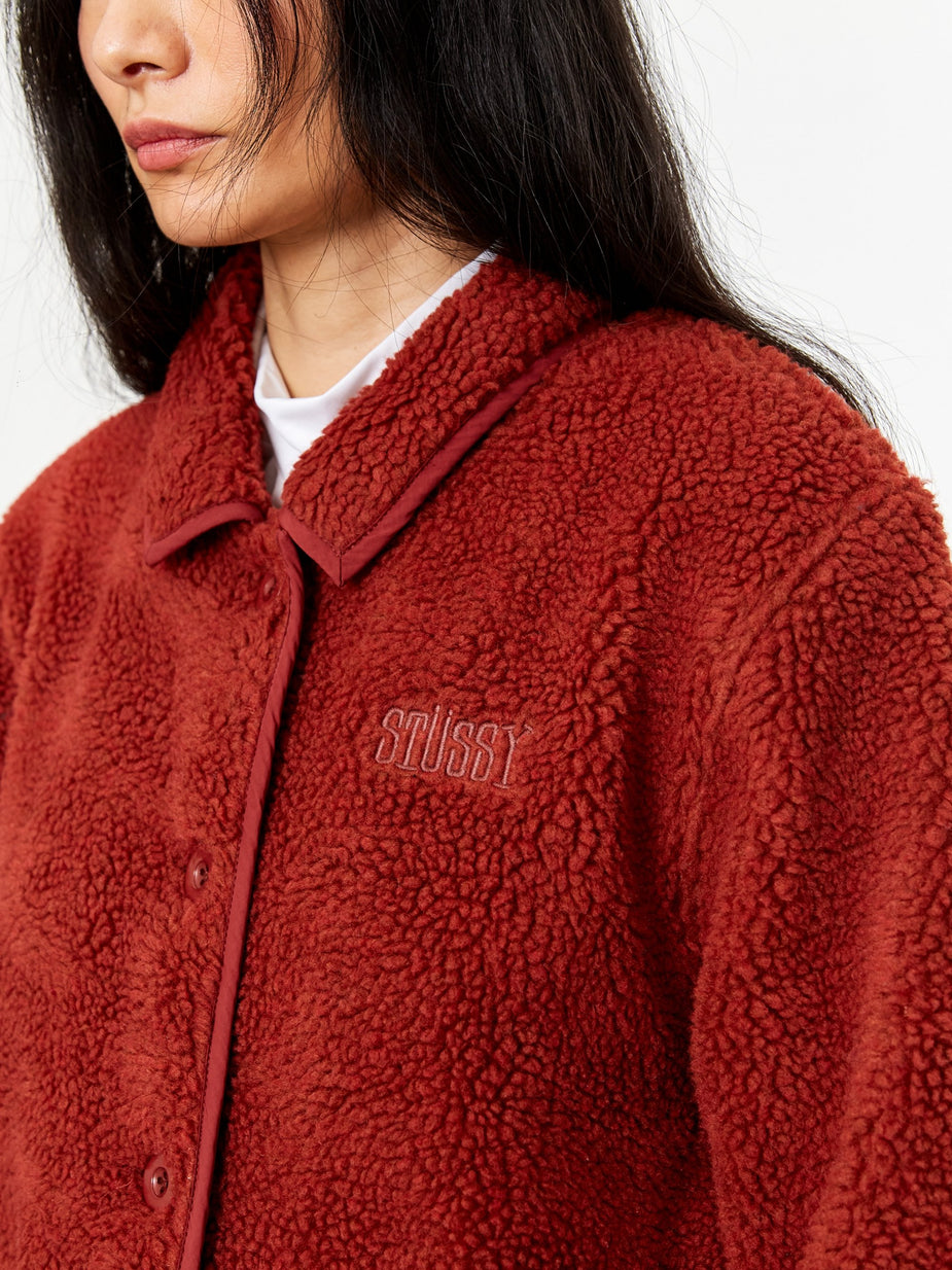 Stussy Stussy Sherpa Button Down Jacket - Clay