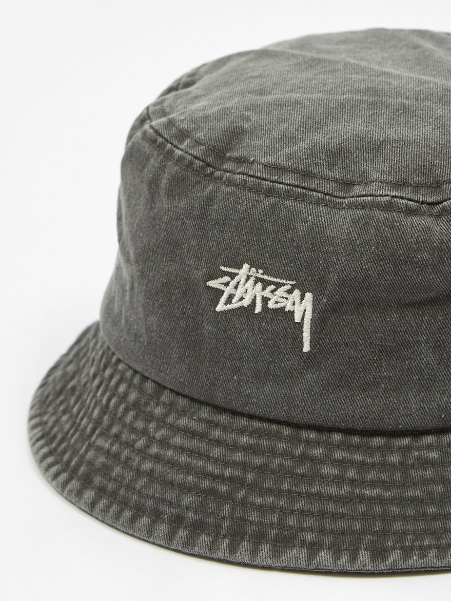 Stussy Stussy Stock Washed Bucket Hat - Black - Black