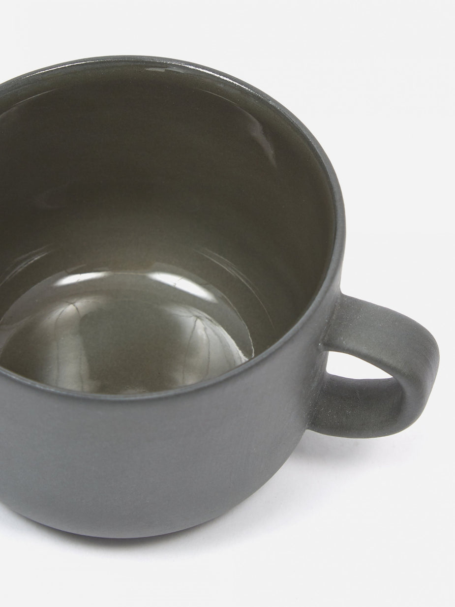 Sue Pryke Sue Pryke Tea Cup - Dark Grey - Grey