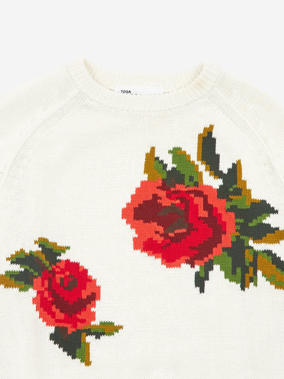 TOGA TOGA ARCHIVES Intarsia Knit Jumper - White - White