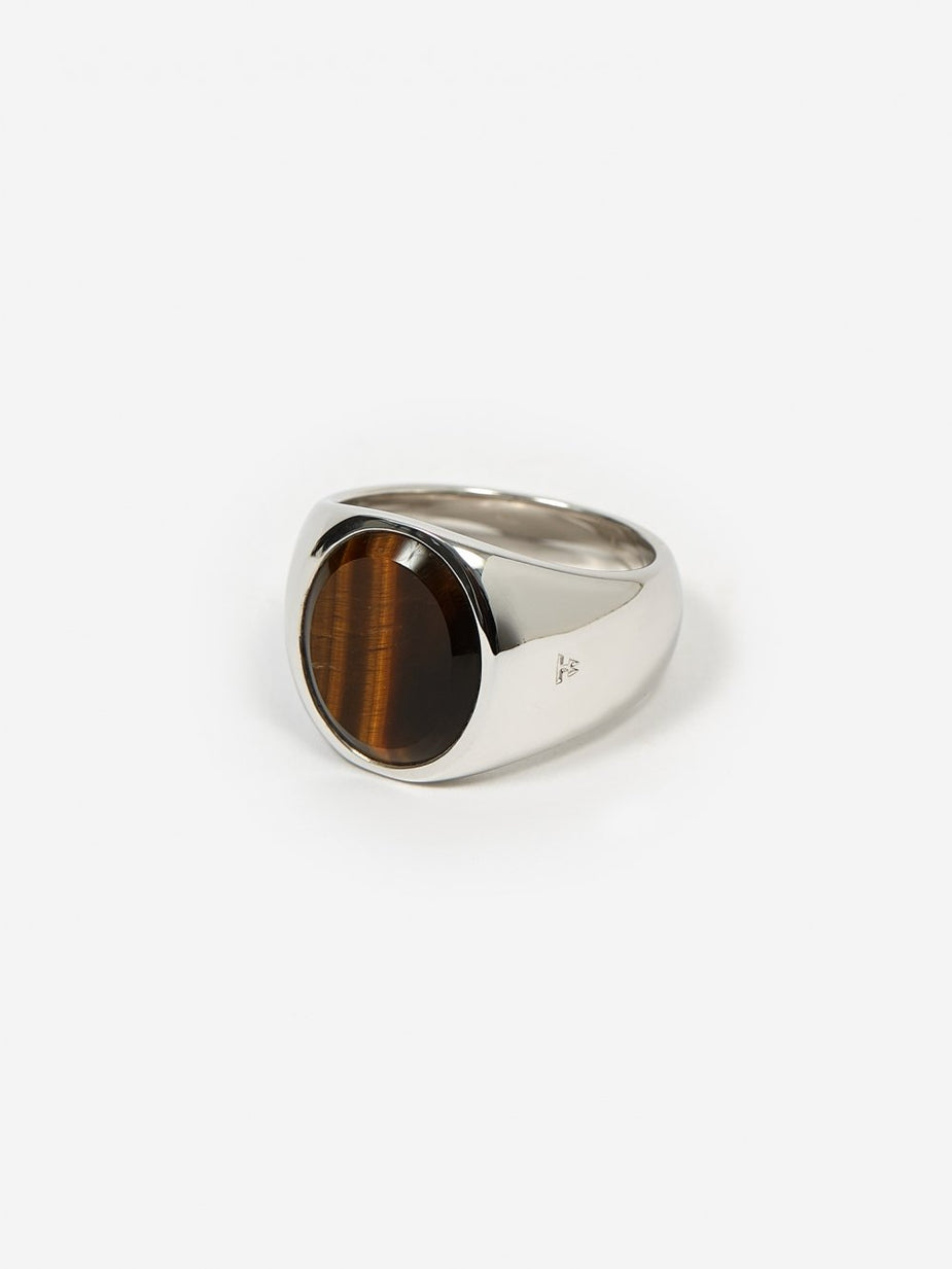Tom Wood Tom Wood Oval Ring - Tiger Eye - Animal Print