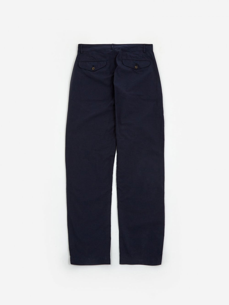 Universal Works Universal Works Aston Pant - Navy Cotton Suiting - Blue