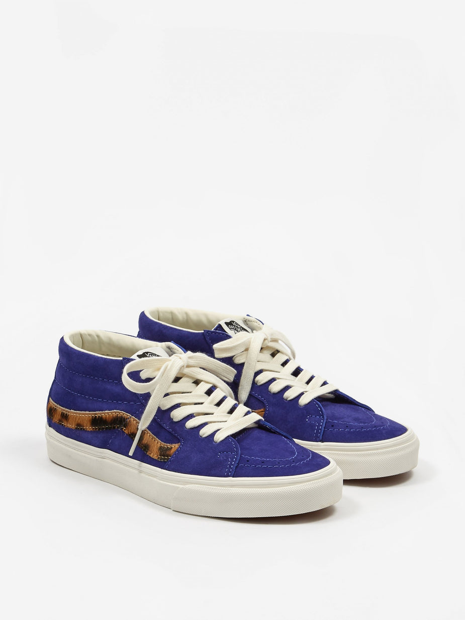 Vans Vans Sk8-Mid - Royal Blue/Calf Hair - Blue