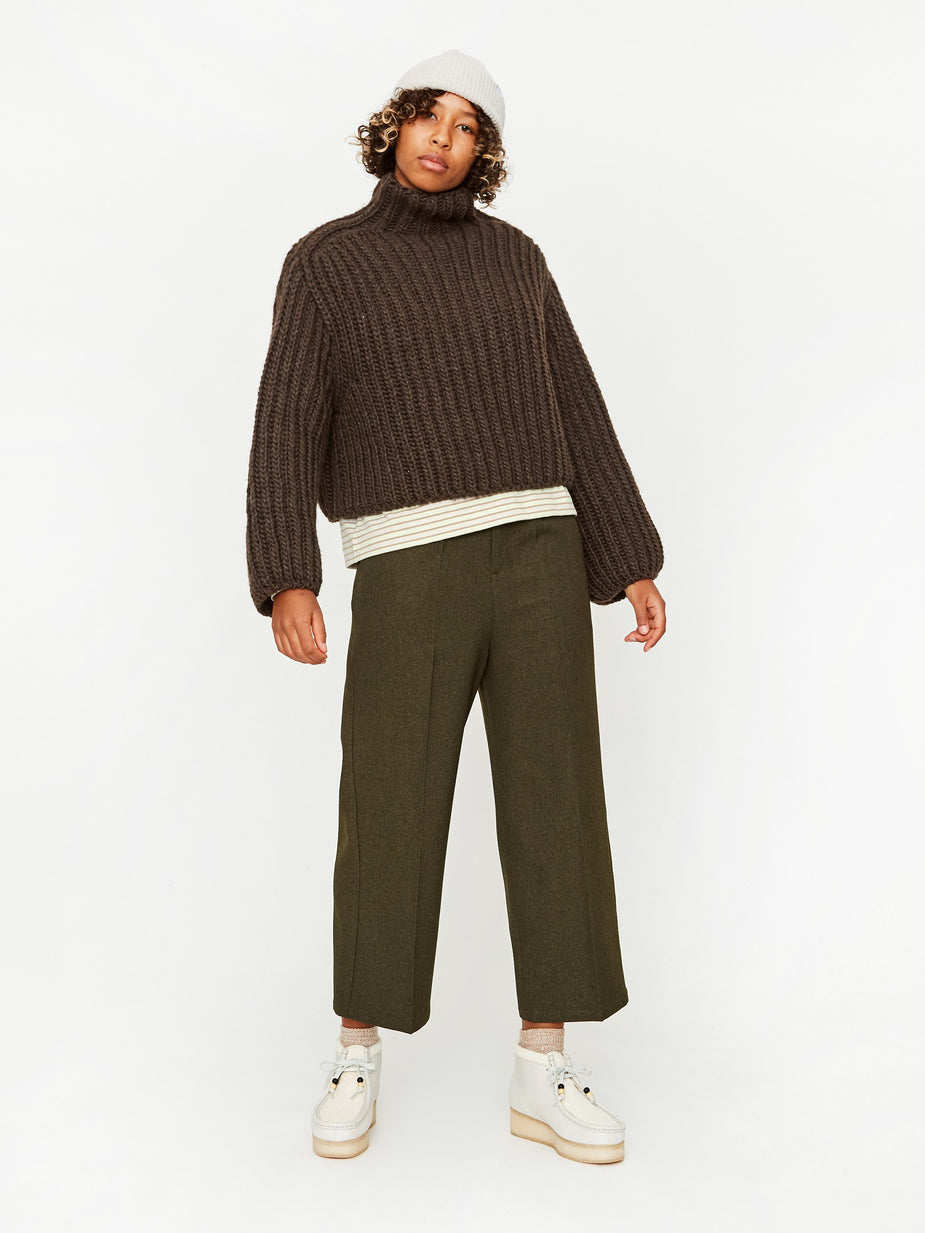 Wood Wood Wood Wood Diana Turtleneck Jumper - Brown - Brown
