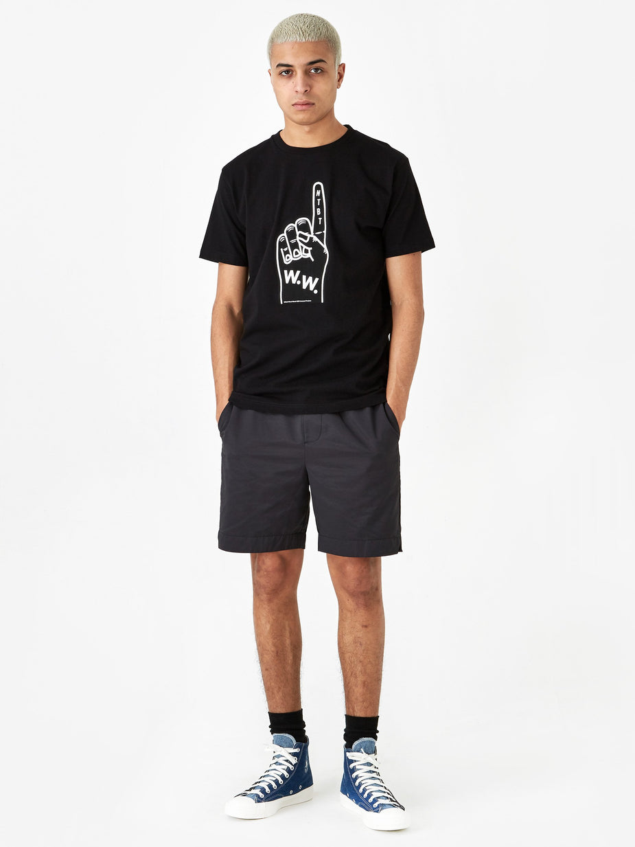 Wood Wood Wood Wood Foam T-Shirt - Black - Black