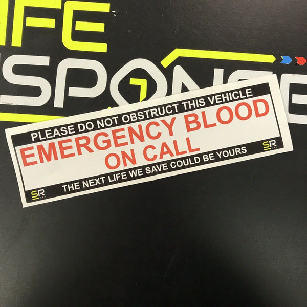 245mm Sticker - Emergency Blood - ST24504