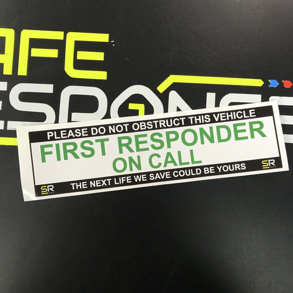 245mm Sticker - First Responder - ST24507