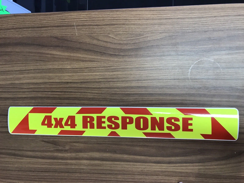 Magnet 4x4 Response Chevron Design Red Text (MG025)