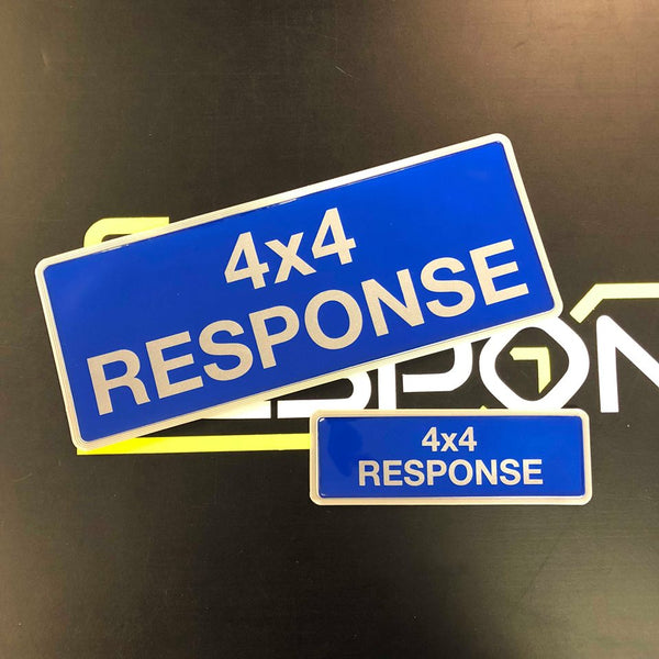 Reflective Badge - 4x4 Response Set