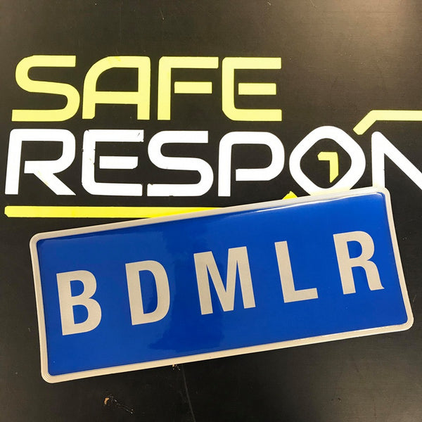 Reflective Badge - BDMLR - Blue - 250mm Set