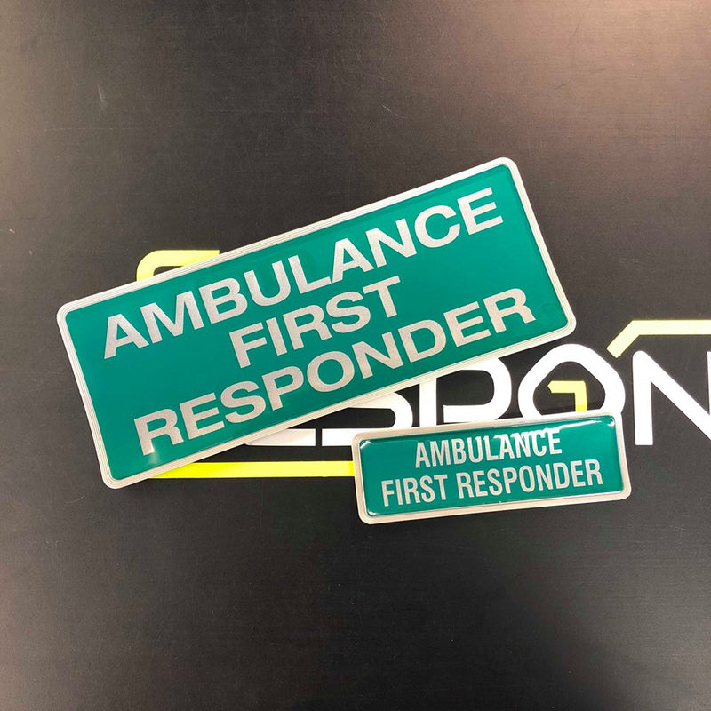 Reflective Badge - AMBULANCE FIRST RESPONDER 250 Style1 Set