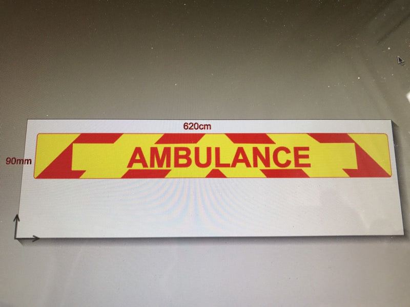 Magnet AMBULANCE with Chevron Design Red Text MG113