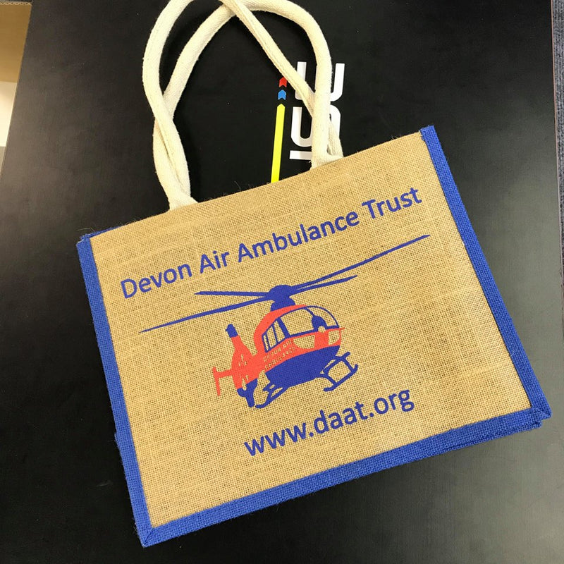 Devon Air Ambulance Jute Shopping Bag