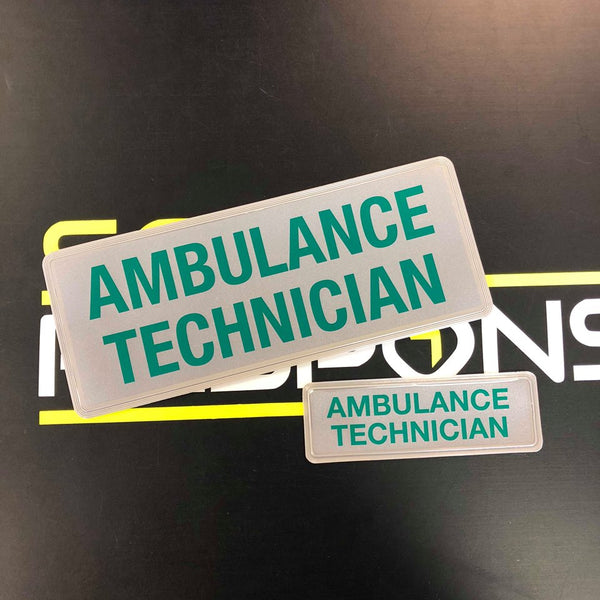 Reflective Badge - Ambulance Technician 250mm Set