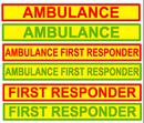 Magnetic Sign - AMBULANCE FIRST RESPONDER - 610mm - Green MG098