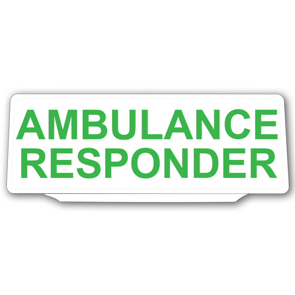 Univisor - Ambulance Responder - White with Green Text - UNV028