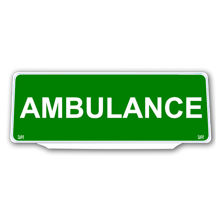 Univisor - Ambulance - Green with White Text - UNV331