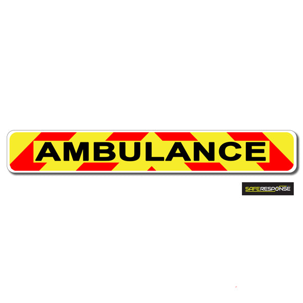 Magnet AMBULANCE with Chevron Design Black Text MG114