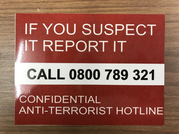 Sticker - Anti Terrorism Hotline Number