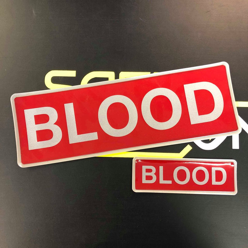 Reflective Badge - BLOOD - 300 Set