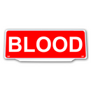 Univisor - BLOOD - Red Background white Text - UNV332