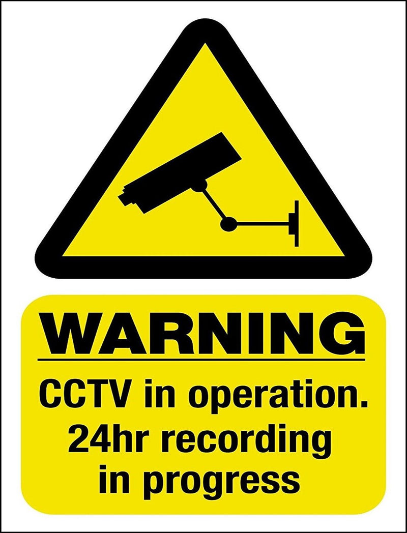 CCTV in Operation Sign 200mm - SGN0045