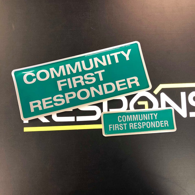 Reflective Badge - COMMUNITY FIRST RESPONDER 250 Style1 Set