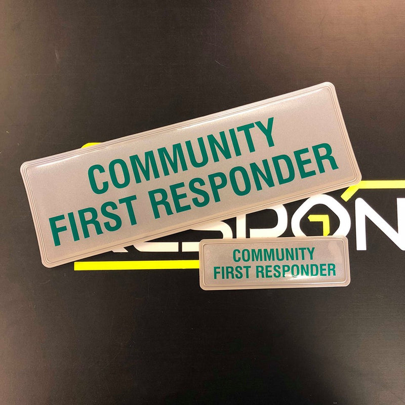 Reflective Badge - COMMUNITY FIRST RESPONDER - 300 Style2 Set