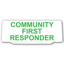 Univisor - Community First Responder - White with Green Text - UNV016