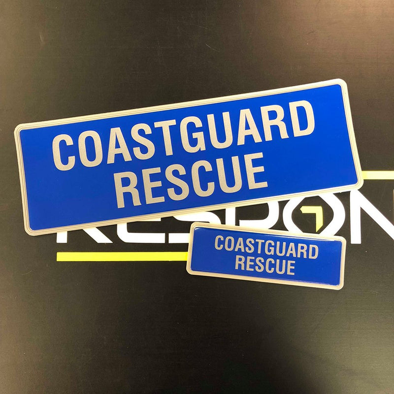 Reflective Badge - COASTGUARD RESCUE 300 Set