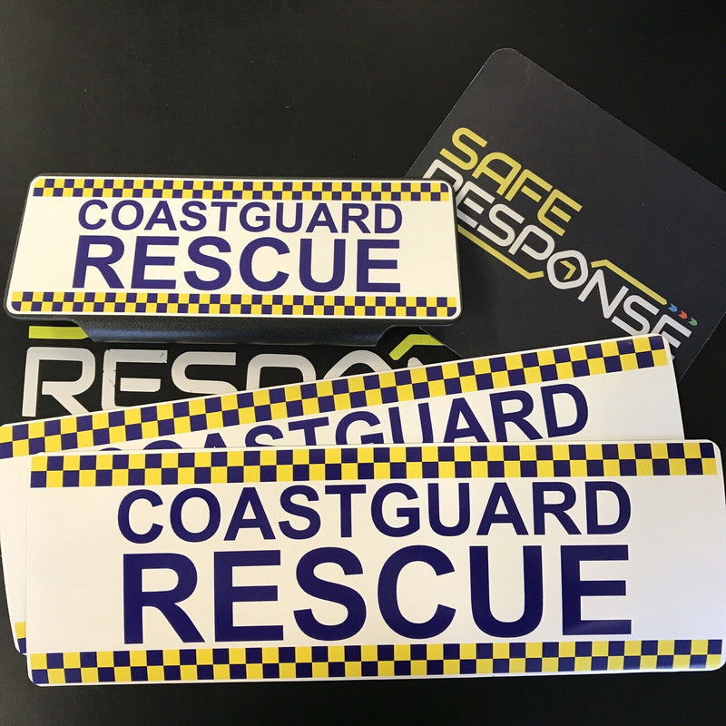 Coastguard Rescue - CHQ Design - 2 x Magnets & 1 Univisor - Vehicle Set