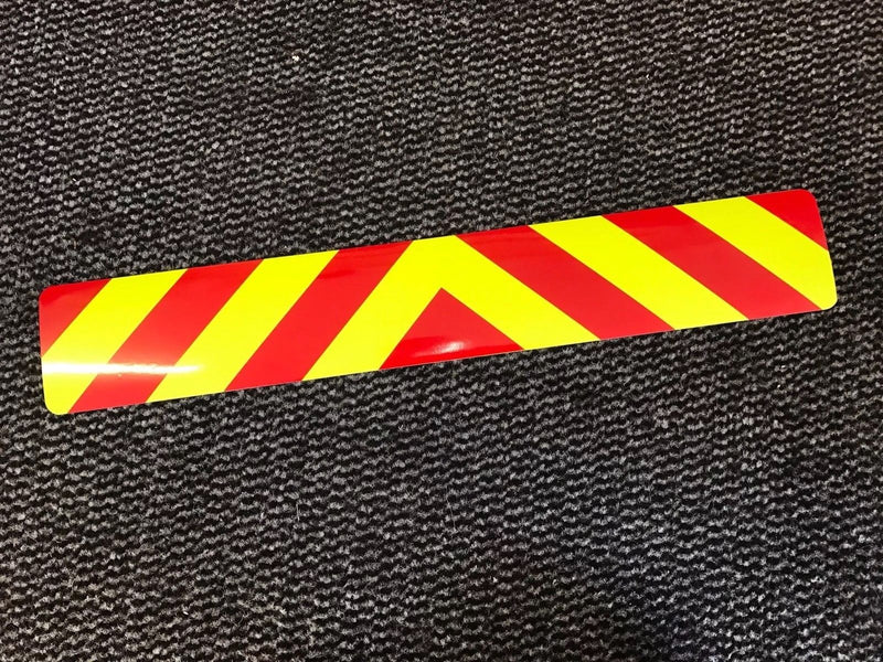 Magnetic Sign - Chevron Design Magnet - 540mm - Dayglo/Standard Red MG105