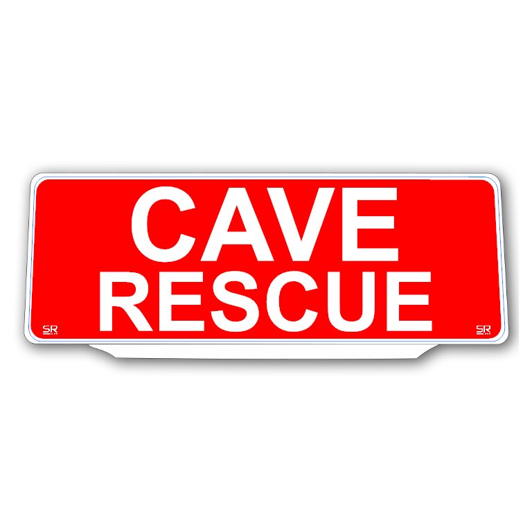 Univisor - Cave Rescue - Red Background White Text - UNV202