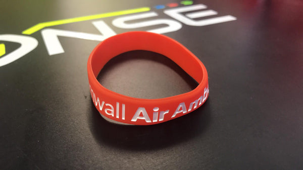 Cornwall Air Ambulance - Charity Wristband - RED