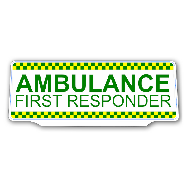 Univisor - AMBULANCE FIRST RESPONDER with Chequer Design - UNV312