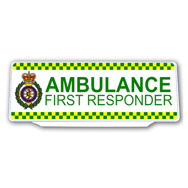 Univisor - AMBULANCE FIRST RESPONDER with Crest & Chequer Design - UNV307