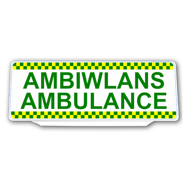 Univisor - AMBIWLANS / AMBULANCE with Chequer Design - UNV315