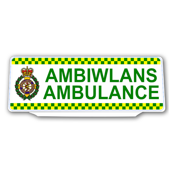 Univisor - AMBIWLANS / AMBULANCE with Crest & Chequer Design - UNV316