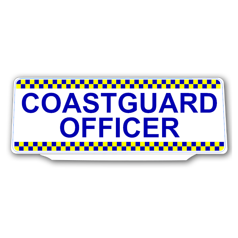 Univisor - COASTGUARD OFFICER - White Background Blue Text Chequered Design - UNV270