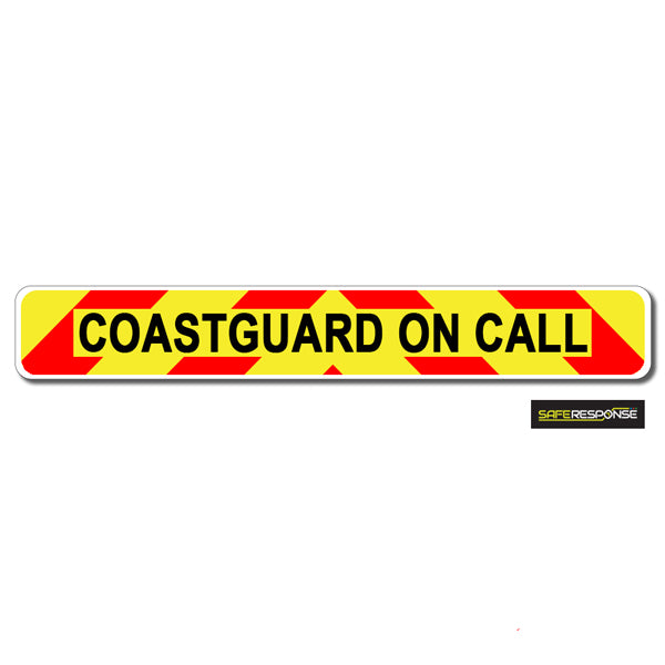 Magnet COASTGUARD ON CALL Chevron Design Text (MG138)