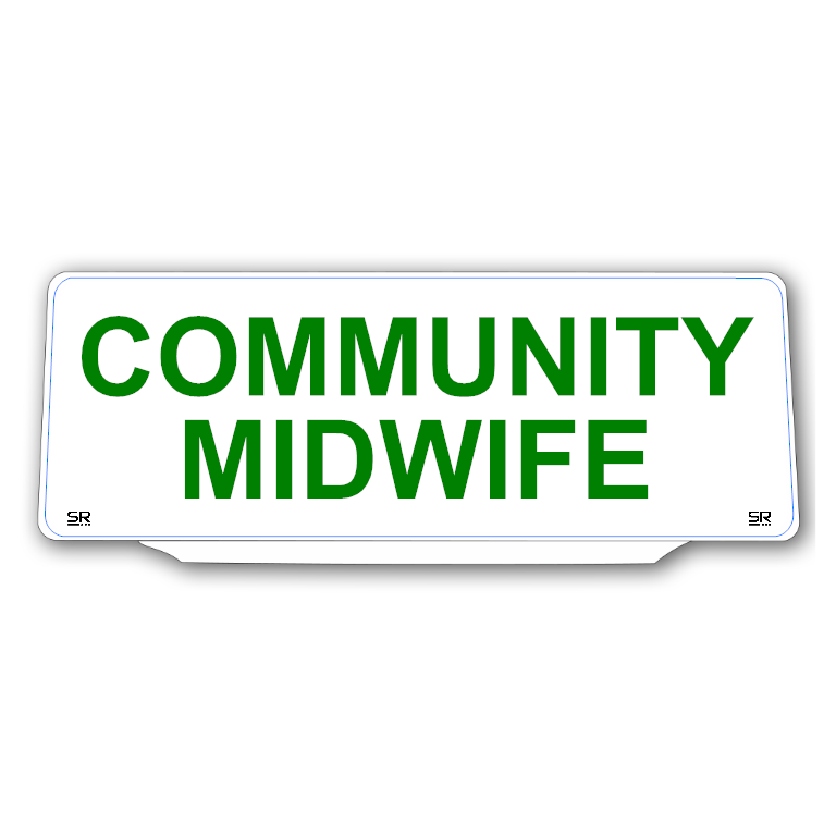 Univisor - COMMUNITY MIDWIFE - White Background Green Text - UNV281
