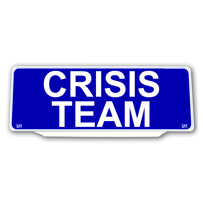 Univisor - CRISIS TEAM - Blue Background with White Text - UNV319