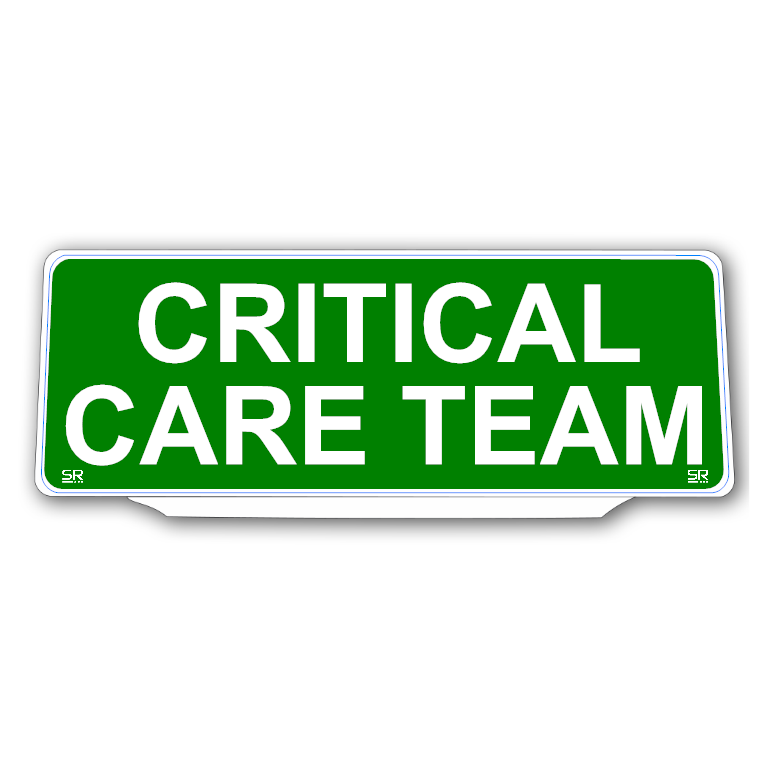 Univisor - CRITICAL CARE TEAM - Green Background White Text - UNV264