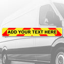 A Custom Magnetic Chevron Sign - 610mm x 90mm - Add Your Own Text