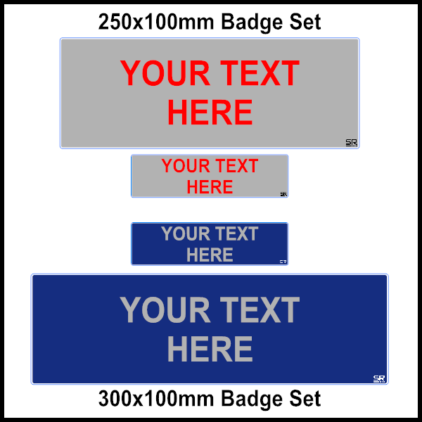 Custom Digital Printed Reflective Badge Set