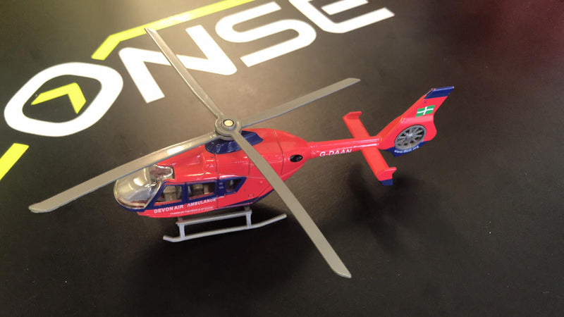 Devon Air Ambulance Model Helicopter - Free Helipad Magazine