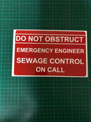 Dash Card - Emergency Engineer - Sewage Control