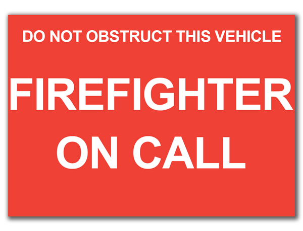 Dash Card - FIREFIGHTER ON CALL