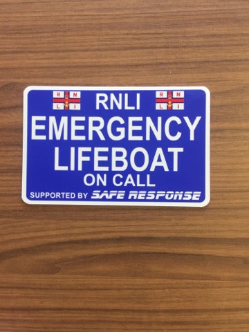 Dash Card - Emergency Lifeboat on Call - BLUE Background