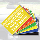 A Customised Dash Card - Various Colours